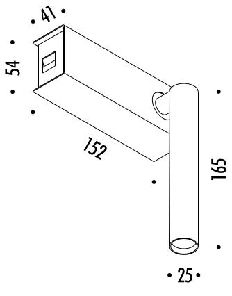 Lampada Mira Switch di DAVIDE GROPPI - Lampade da parete