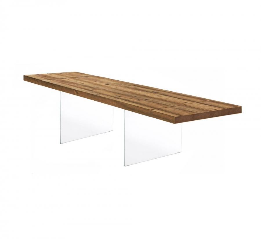 Tavolo Air Wildwood Naturale - Allungabile 160 → 264 di LAGO - Tavoli