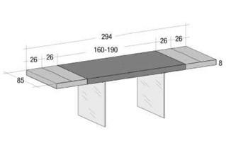 Tavolo Air Wildwood Naturale - Allungabile 190 → 294 di LAGO - Tavoli