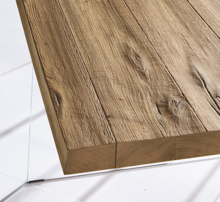 Tavolo Air Wildwood Naturale - Teste Chiuse 160x85 cm di LAGO - Tavoli