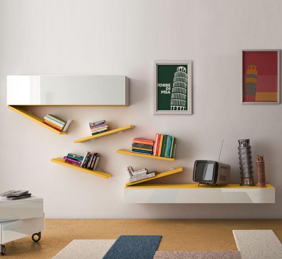 Livingroom composizione 0256 di lago pareti attrezzate for Pareti attrezzate lago