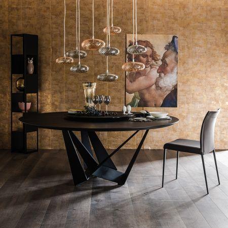 Tavolo Skorpio Keramik Round di  CATTELAN ITALIA