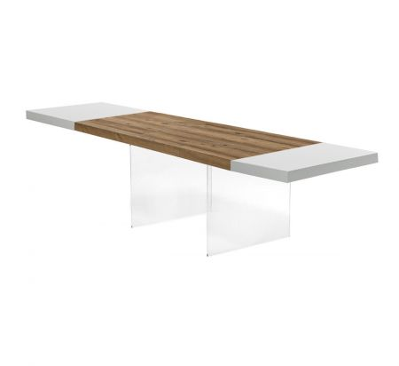 Table Air Wildwood Natural / White - Extendable 190 → 294 by LAGO