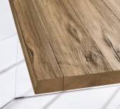 Tavolo Air Wildwood Naturale / Bianco - Allungabile 190 → 294 di LAGO