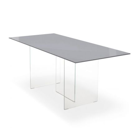 Air polished glass table by LAGO