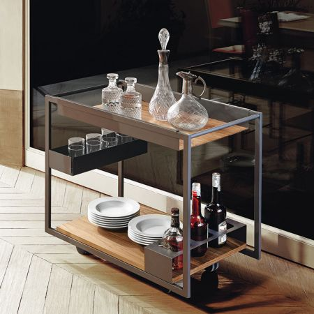 Trolley bar Mojito Wood by CATTELAN ITALIA