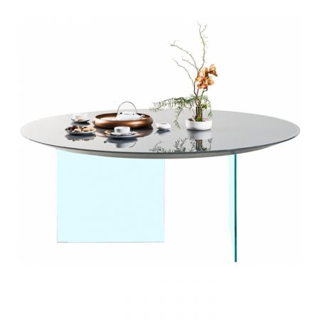 Air Glass Table Round - Lago