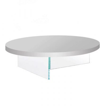 Air Coffee Table Lacquered - Lago - Round Top