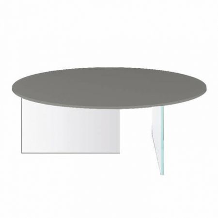 Air Glass Coffee Table - Lago - Round Top