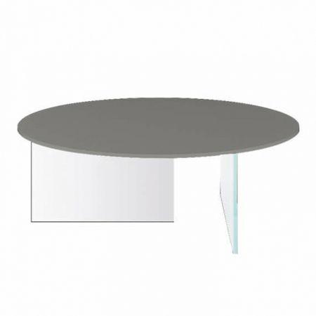 Tavolino Air Glass - Lago - Piano Rotondo