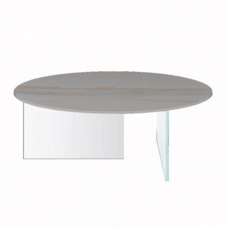 Tavolino Air XGlass - Lago - Piano Rotondo