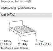 Aris bed - Ditre Italia
