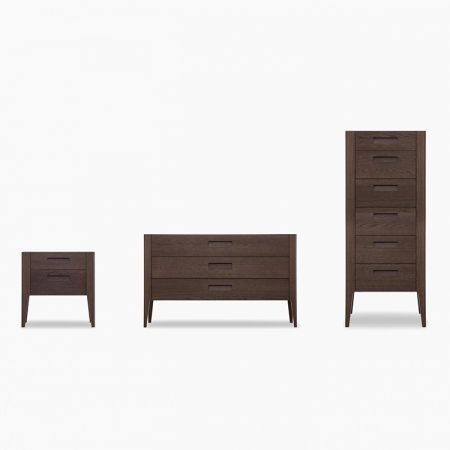 Giotto chest of drawers and bedside table - Novamobili
