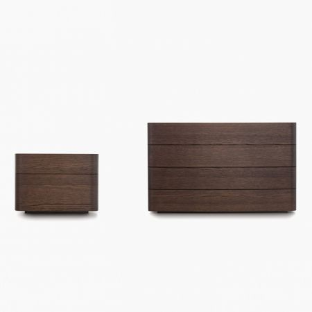 Norman chest of drawers and bedside table - Novamobili