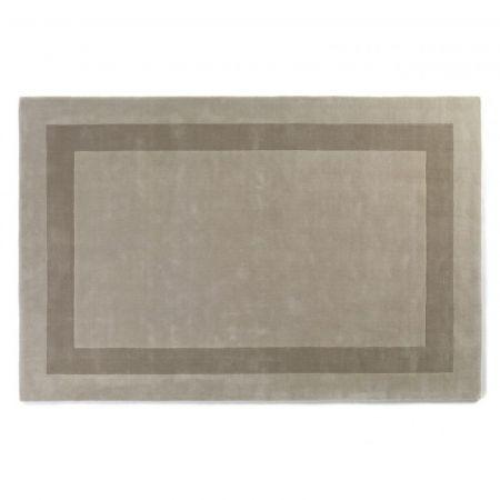 Tappeto Rajgarh Bordered Eggshell & Silver - Jacaranda Carpets