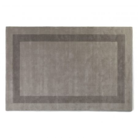 Tapis Rajgarh Bordered Ice & Pewter - Jacaranda Carpets