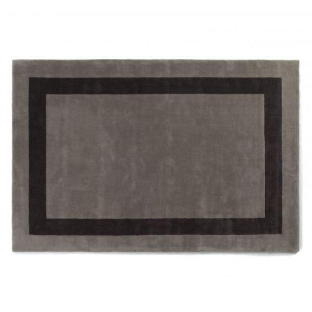 Tappeto Rajgarh Bordered Pewter & Charcoal - Jacaranda Carpets