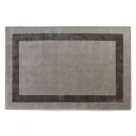 Tappeto Simla Bordered  Grey & Pawter - Jacaranda Carpets