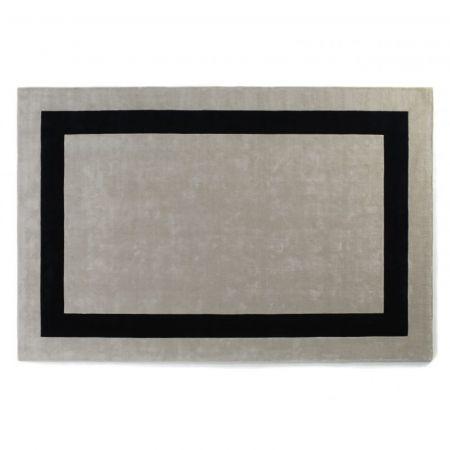 Tappeto Simla Bordered Snow & Charcoal - Jacaranda Carpets
